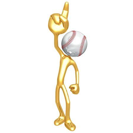 numero uno: Number One Fan di baseball Archivio Fotografico