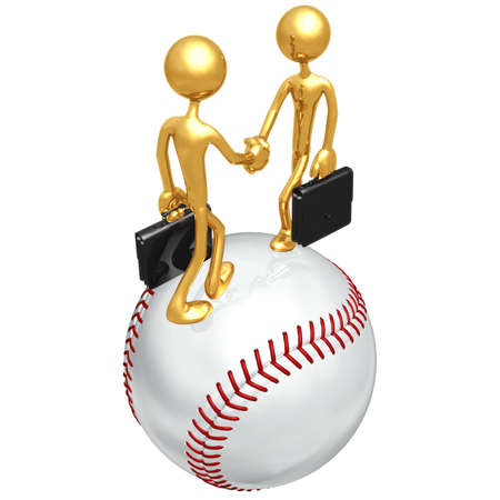 business team:  Baseball Business Deal Stock Photo