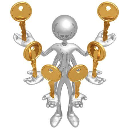 llaves: Manejo de m�ltiples teclas