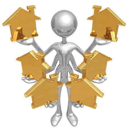 Handling Multiple Homes Stock Photo