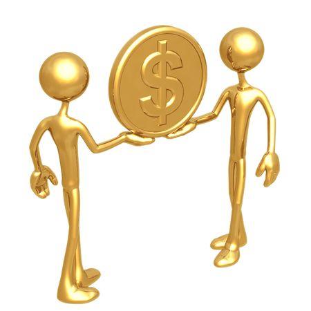 lending: Holding Gold Dollar Coin
