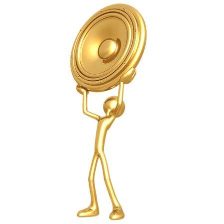 gilded: Giant Speaker Stock Photo