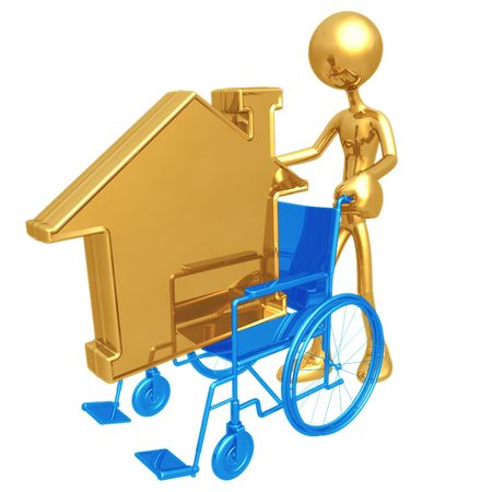 housing crisis: Wheelchair Housing Stock Photo