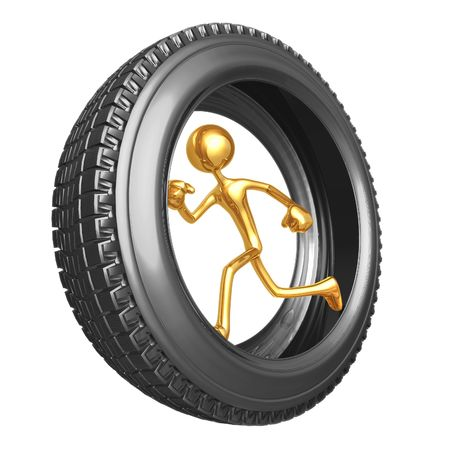 tread: Tire Runner Stock Photo