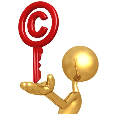 Copyright Key photo