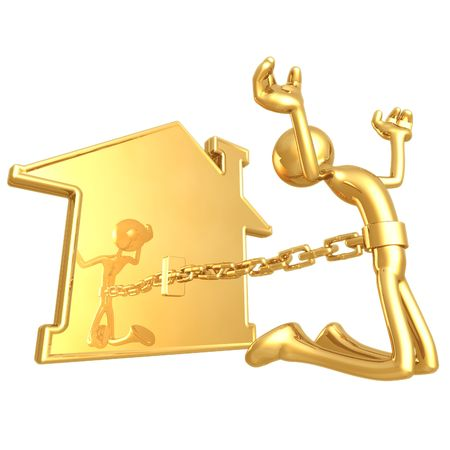 chained: Chained To Home Stock Photo