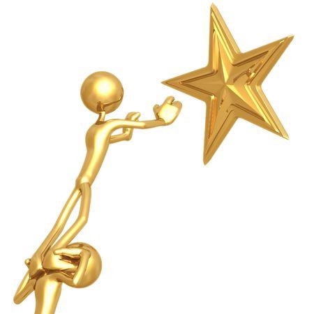 star award: Teamwork Reaching For Golden Star