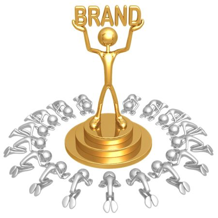Brand Worship Stock Photo