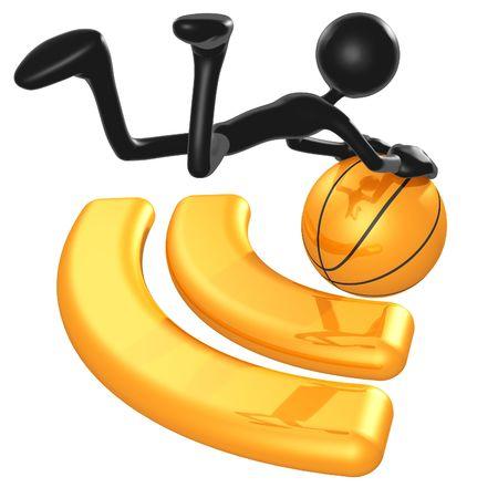 blogging: RSS Basketball Stock Photo