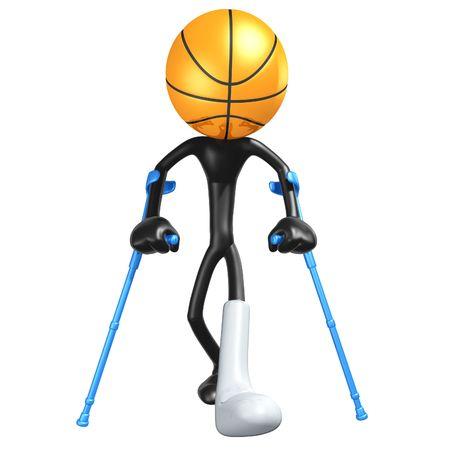 Injured Basketball Player Stock Photo