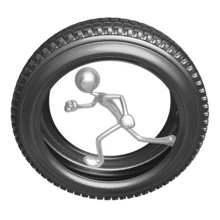 tire tread: Tire Runner Stock Photo