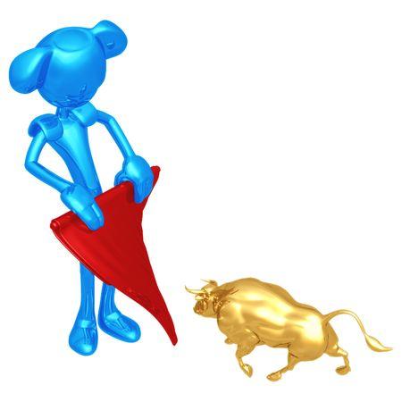 bullfighter: Mini Bullfighter Stock Photo