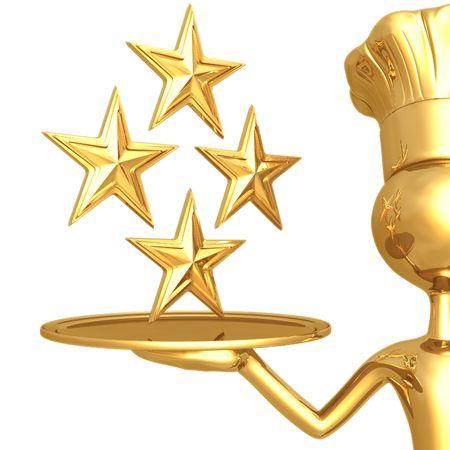 estrella caricatura: Restaurante Puntuaci�n 4 Estrellas