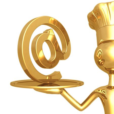 Golden Chef Serving Email photo