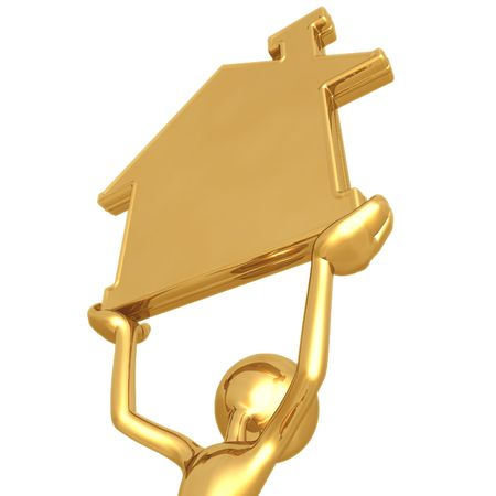 realty: Golden Home Realty Stock Photo