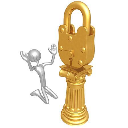 idolatry: Lock Idol Stock Photo