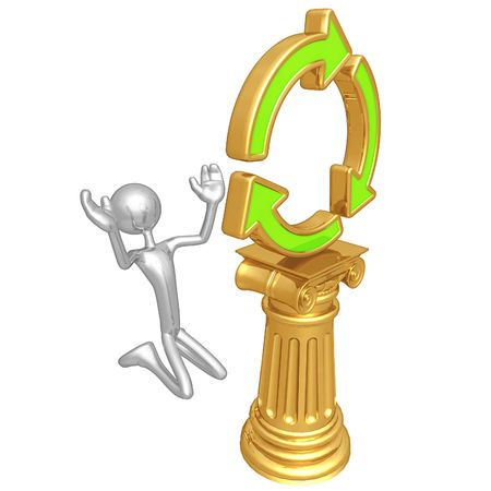 idolatry: Recycle Idol Stock Photo