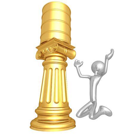 idolatry: Oil Idol Stock Photo