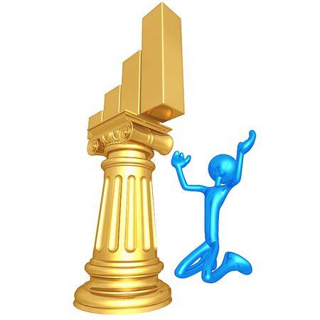 idolatry: Bar Graph Idol Stock Photo
