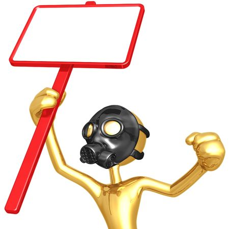 gasmasker: Het dragen van Gas Masker protesteren Stockfoto