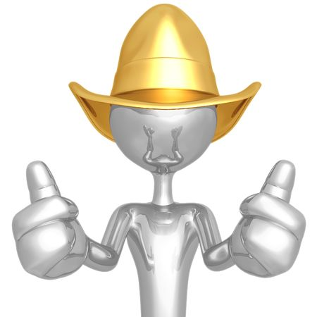 Cowboy Two Thumbs Up photo
