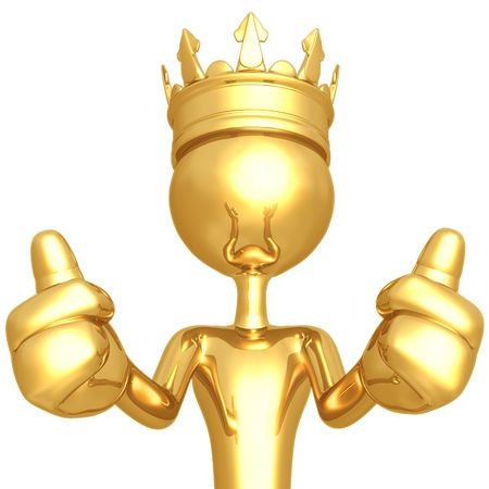 King Two Thumbs Up Stock Photo - 4412839