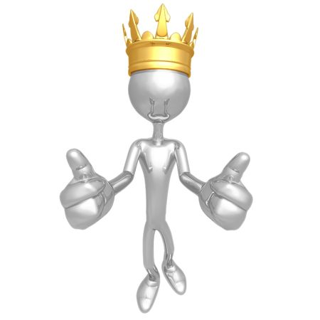 King Two Thumbs Up Stock Photo - 4412527