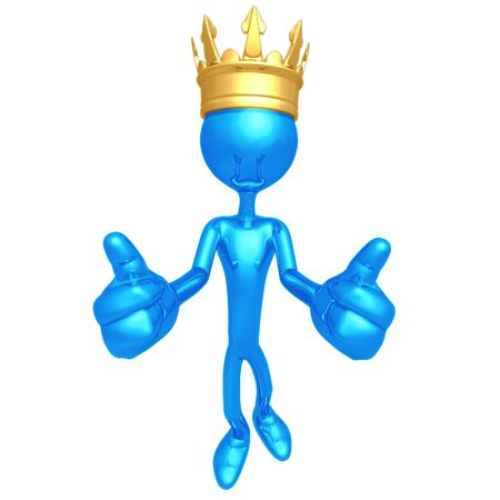 King Two Thumbs Up Stock Photo - 4412668