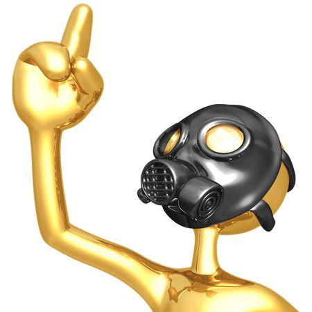 health threat: Gas Mask Eureka!