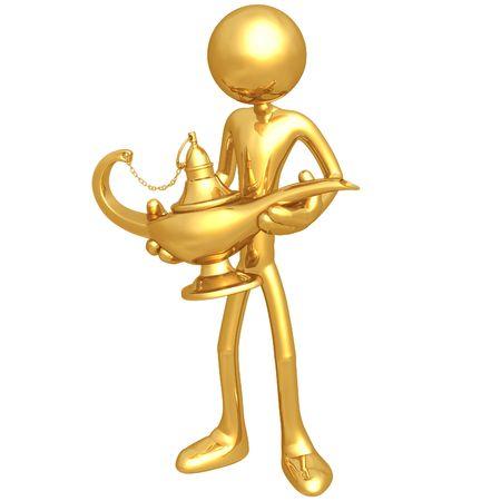 figura: Magic Lamp Banco de Imagens