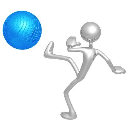 Kicking Yoga Pilates Physio Ball photo
