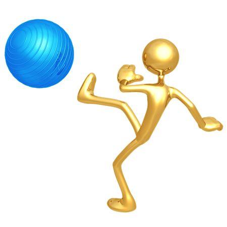 physio: Kicking Yoga Pilates Physio Ball