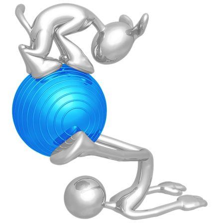 physio: Yoga Pilates Physio Ball With Dog