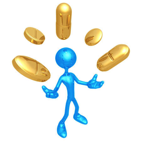 Pill Juggling Stock Photo