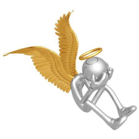 communication icons: Crying Angel