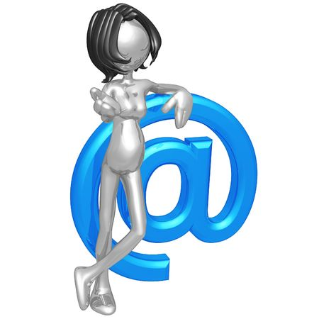 Pregnant Woman With Email photo