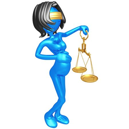 justice scale: Maternity Equality Stock Photo