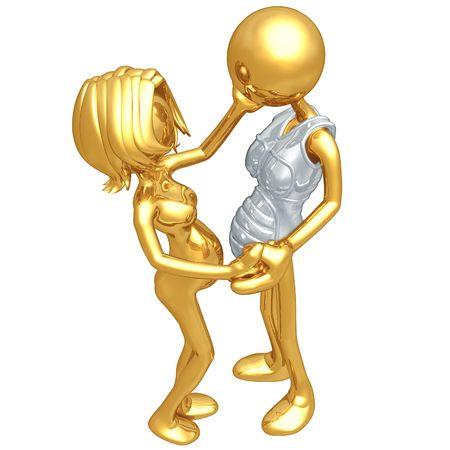 sympathy: Pregnancy Sympathy Suit Stock Photo