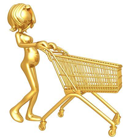 Pregnant Woman Shopping Stock Photo - 4412987