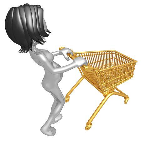 Pregnant Woman Shopping Stock Photo - 4412908