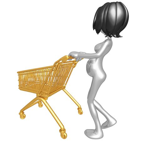 Pregnant Woman Shopping Stock Photo - 4412886