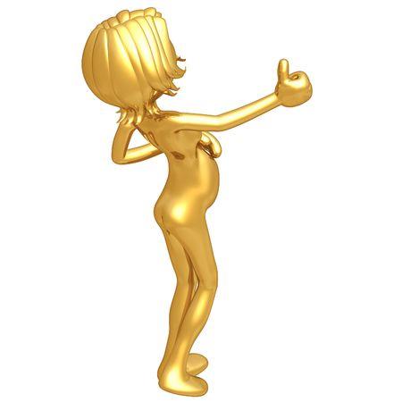 symbolic woman: Pregnant Woman Thumbs Up