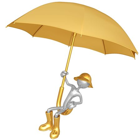 gamp: Flying On A Giant Umbrella