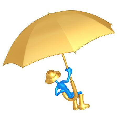 Flying On A Giant Umbrella photo