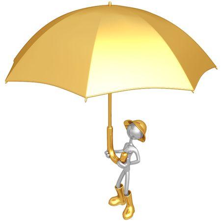 gamp: Holding Giant Umbrella