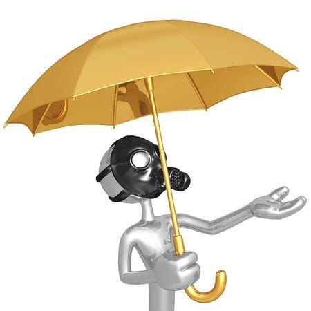 gasmask: Toxic Rain Stock Photo