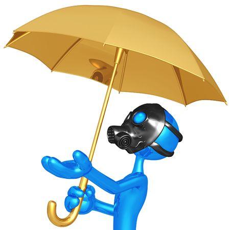 brolly: Toxic Rain Stock Photo