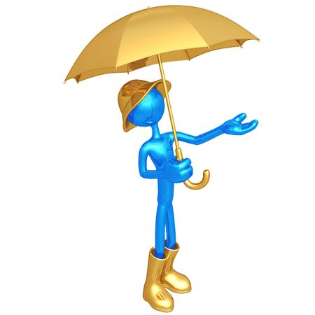 Man With Umbrella Stock Photo - 4429304