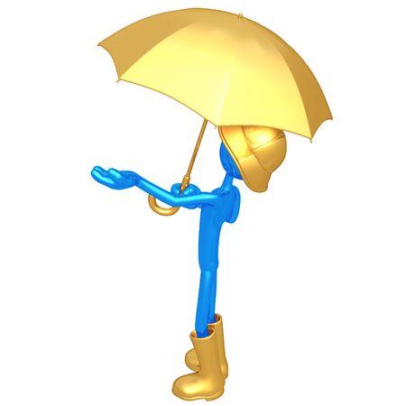 Man With Umbrella photo