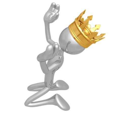 praise: King Kneeling In Praise